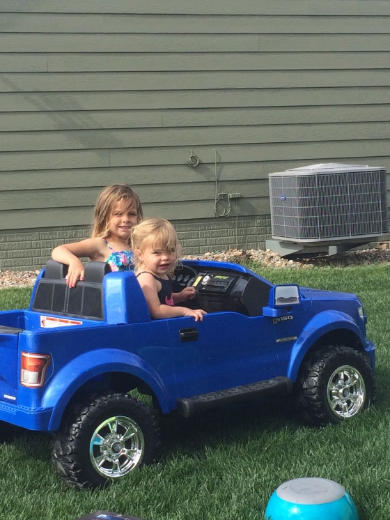 oh no!  Watch out the Olson girls got some new wheels!