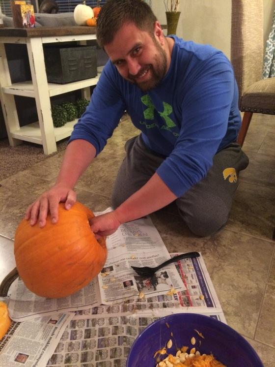 The lone survivor in pumpkin carving